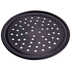 American Metalcraft HCTP8P 8 inch Perforated Hard Coat Anodized Aluminum Wide Rim Pizza Pan