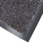 Cactus Mat 1437M-L31 Catalina Standard-Duty 3' x 10' Charcoal Olefin Carpet Entrance Floor Mat - 5/16
