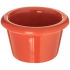 Carlisle S27552 1.5 oz. Sunset Orange Smooth Plastic Ramekin   - 48/Case