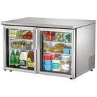 True TUC-48G-LP 48 inch Low Profile Glass Door Undercounter Refrigerator