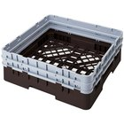 Cambro BR578167 Brown Camrack Full Size Open Base Rack with 2 Extenders