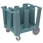 Cambro ADCS401 Slate Blue S Series Adjustable Caddy with Vinyl Cover - 6 Column