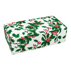 5 1/2 inch x 2 3/4 inch x 1 3/4 inch 1-Piece 1/2 lb. Holly Candy Box - 250/Case