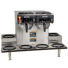 Bunn 23400.0020 CWTF 0/6 Twin 12 Cup Automatic Coffee Brewer with 6 Lower Warmers - 120/240V
