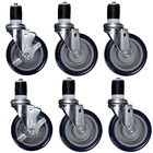 Heavy Duty 5 inch Casters for Equipment Stands - 6/Set