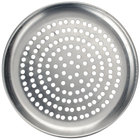 American Metalcraft CTP11P 11 inch Perforated Standard Weight Aluminum Coupe Pizza Pan