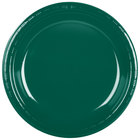 Creative Converting 28312431 10 inch Hunter Green Plastic Plate - 240/Case