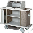 Metro LXHK3-PRO Lodgix Pro Housekeeping Cart with Locking Side Storage and Top Shroud