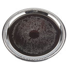 Tablecraft CT13 13 inch Embossed Chrome Metal Catering Tray