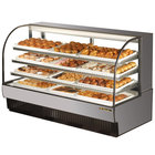 True TCGD-77 77 inch Stainless Steel Dry Bakery Display Case - 37 Cu. Ft.