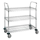 Metro MW702 Super Erecta 18 inch x 24 inch x 38 inch Three Shelf Standard Duty Stainless Steel Utility Cart
