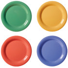 GET NP-7-MIX Diamond Mardi Gras 7 1/4 inch Narrow Rim Round Melamine Plate, Assorted Colors - 48/Case