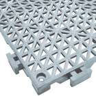 Cactus Mat 2557-ET Poly-Lok 12 inch x 12 inch Gray Vinyl Interlocking Drainage Floor Tile - 3/4 inch Thick