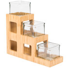 Cal-Mil 1486 Three Tier Bamboo Jar Display - 5