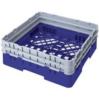 Cambro BR578168 Blue Camrack Full Size Open Base Rack with 2 Extenders