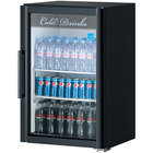 Turbo Air TGM-7SD Black Countertop Display Refrigerator with Swing Door - 7.6 cu. ft.
