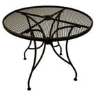American Tables & Seating ALM30 30 inch Round Mesh Top Outdoor Table with Umbrella Hole