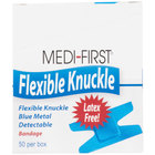 Blue Woven Adhesive Knuckle Bandage - 50/Box