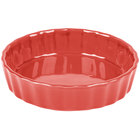 CAC QCD-5RED Festiware Fluted Quiche Dish 5.5 oz. - Red - 24/Case