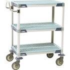 Metro MXUC1830G-35 MetroMax i 3 Shelf Utility Cart with 5 inch Polyurethane Casters 18 inch x 30 inch