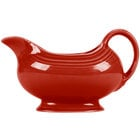 Homer Laughlin 486326 Fiesta Scarlet 18.5 oz. Sauce Boat - 4/Case