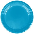 Creative Converting 28313121 9 inch Turquoise Blue Plastic Plate - 20/Pack