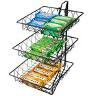 Cal-Mil 1293-3 Three Tier Merchandiser with Square Wire Baskets - 12 inch x 19 inch x 20 inch