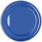 Carlisle 4300414 Durus 9 inch Ocean Blue Narrow Rim Melamine Plate - 24/Case