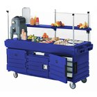 Cambro CamKiosk KVC854186 Navy Blue Vending Cart with 4 Pan Wells
