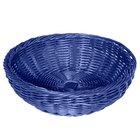 GET WB-1512-BL 11 1/2 inch x 3 1/2 inch Designer Polyweave Blue Round Basket - 12 / Case