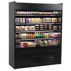 Structural Concepts Oasis B62-QS Black 66 3/8 inch Narrow Depth Air Curtain Merchandiser Refrigerator - 28.96 Cu. Ft., 208-240V
