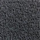 Cactus Mat 1451R-E4 Vinyl-Coil 4' Wide Gray Scraper Mat Roll - 3/8'' Thick