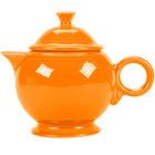 Homer Laughlin 496325 Fiesta Tangerine 44 oz. Covered Teapot - 4 Sets / Case