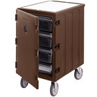 Cambro 1826LBC131 Camcart Dark Brown Single Compartment Mobile Cart for 18 inch x 26 inch Food Storage Boxes