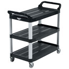 Vollrath 97007 Black Multi-Purpose Utility Cart with Three Shelves