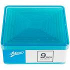Ateco 5753 9-Piece Polycarbonate Plain Square Cutter Set (August Thomsen)