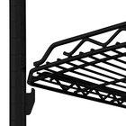 Metro HDM1836Q-DBM qwikSLOT Drop Mat Black Matte Wire Shelf - 18 inch x 36 inch