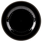 WNA Comet MP10BKGLD Black Masterpiece Plate with Gold Accent Bands -10 1/4 inch 120 / Case