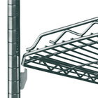Metro HDM1448Q-DSG qwikSLOT Drop Mat Smoked Glass Wire Shelf - 14 inch x 48 inch