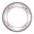 Rose 14 1/8 inch Round Melamine Plate - 12/Pack