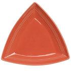 Tuxton Concentrix CNZ-1248 Cinnebar 12 1/2 inch Triangle China Plate 6 / Case