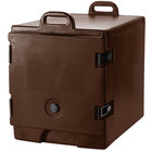 Cambro 300MPC131 Dark Brown Camcarrier Pan Carrier with Handles - Front Load for 12 inch x 20 inch Food Pans