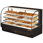 True TCGD-77 77 inch Black Dry Bakery Display Case - 37 Cu. Ft.