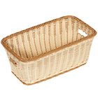 GET WB-1520-TT Designer Polyweave Plastic Rectangular Basket 16 inch x 9 inch x 6 3/4 inch - 6 / Pack
