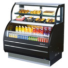 Dual Service Curved Glass Merchandisers
