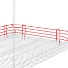 Metro L18N-4-DF Super Erecta Flame Red Stackable Ledge 18 inch x 4 inch