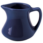 Hall China 30193105 Cobalt Blue 2.5 oz. Colorations Empire Creamer - 72/Case