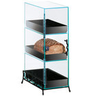 Cal-Mil 1204-13 Three Tier Bread Display Case with Black Wire Base
