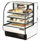 True TCGR-36 36 inch White Curved Glass Refrigerated Bakery Display Case - 19 Cu. Ft.