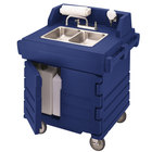 Cambro KSC402186 Navy Blue CamKiosk Portable Self-Contained Hand Sink Cart - 110V